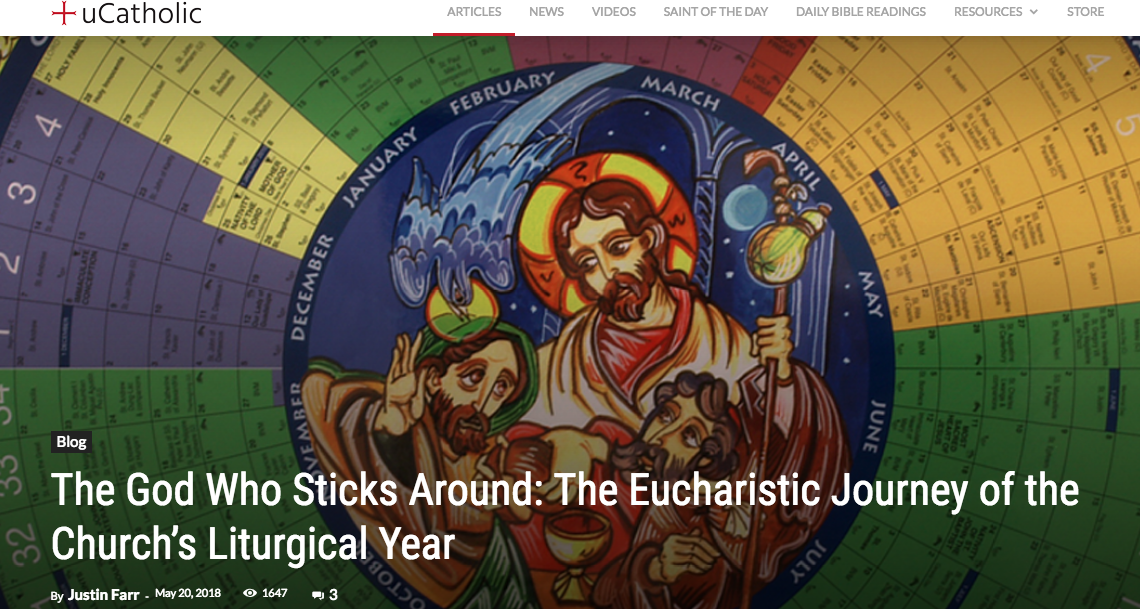 "Prod. By BLACKCATHOLIC – 1:  ""The God Who Sticks Around: The Eucharistic Journey of the Church's Liturgical Year"" (For uCatholic)"