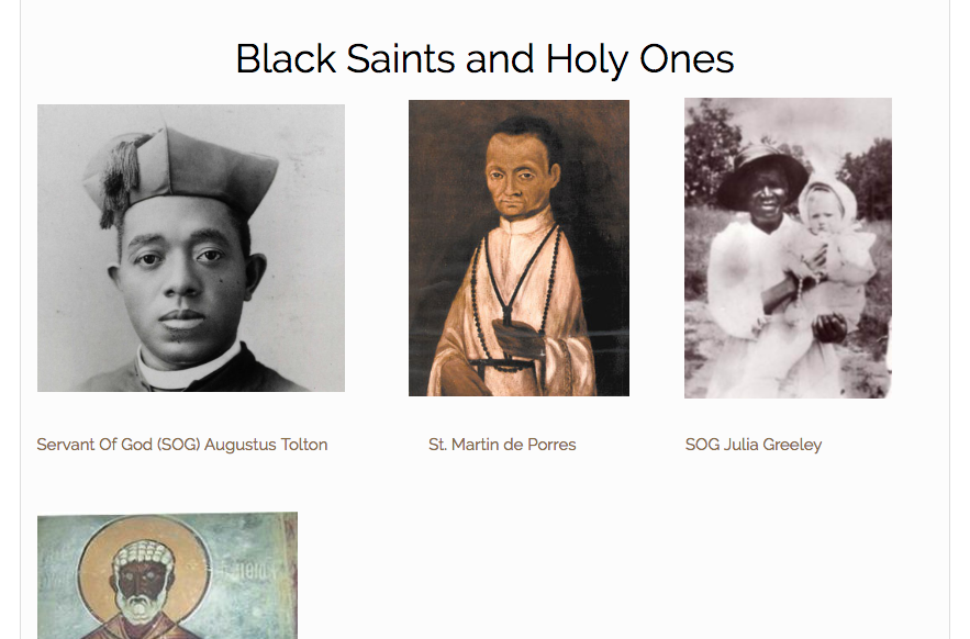 """Black (And Catholic) Like Me"" Article-Series Introduction and Black Saints Page"
